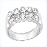 18k white ladies diamond ring