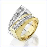 18k 2 tone diamond ring
